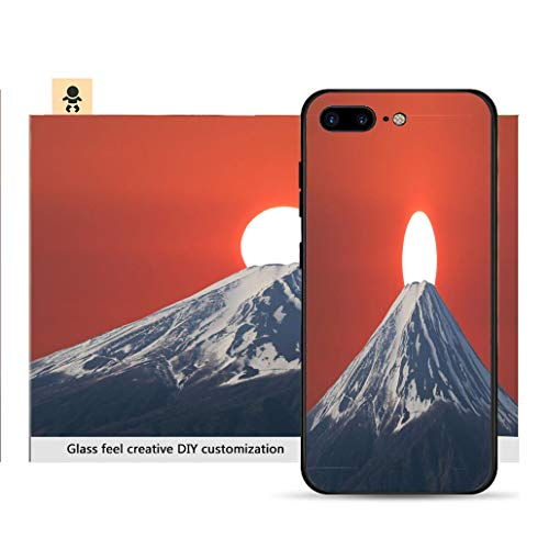 iPhone 7p / 8p Ultra-Thin Phone case Sunset Fall Down Behind Mt Fuji of Volcano in Japan Resistance to Falling, Non-Slip, Soft, Convenient Protective - Mt Volcano Japan Fuji