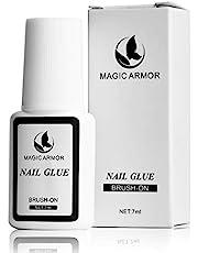 MAGIC ARMOR Nail Glue for Acrylic Nails Brush on Nail Glue Professional Nail Tip Glue Nail Glue For Press On Nails Fasle Nails Fake Nails Tips Adhesive Press On Nail Glue For Broken Nails (nail glue)