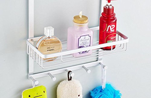 YAOHAOHAO Bathroom shelving free shower hole room rack, bath rooms 304 stainless steel wall hanging Shopping Cart 1 layer depend on storage rack (Color (a) by YAOHAOHAO (Image #3)