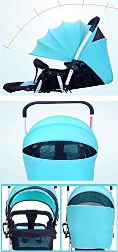 YETC Twin Kinderwagen, abnehmbare kann sitzen und hinlegen Kind leichte Faltbare Doppeltrolley Kinderwagen