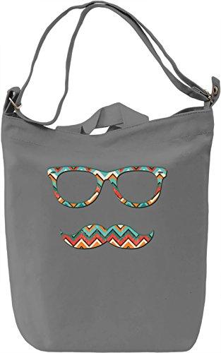 Hipster glasses Borsa Giornaliera Canvas Canvas Day Bag| 100% Premium Cotton Canvas| DTG Printing|
