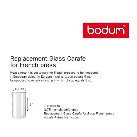 Bodum 1508 - 10 - Repuesto de cristal para cafetera de émbolo, 2 ...