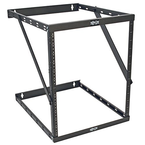 Tripp Lite 8U/12U/22U Expandable Wall-Mount 2-Post Open Frame Rack, Adjustable Network Equipment Rack, UPS Depth, 23.5