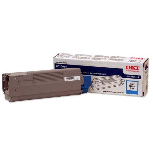 Mfp Series C5550n - Okidata 43324419 Toner Cartridge for C6100 Series, 5000 Page Yield, Cyan