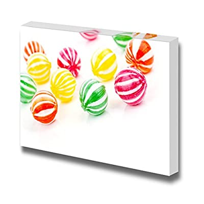 Canvas Prints Wall Art - Colored Round Candies/Sweets | Modern Wall Decor/Home Decoration Stretched Gallery Canvas Wrap Giclee Print & Ready to Hang - 24