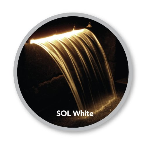 Atlantic Water Gardens Lighted Waterfall Spillway, 24-inch SOL White Colorfalls