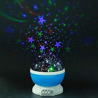 Estrellas Starry Sky LED Proyector de luz nocturna Lámpara lunar ...