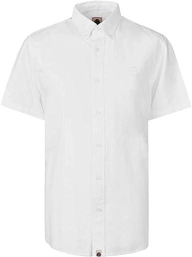 Camisa Oxford de manga corta verde de ajuste clásico: Amazon.es: Ropa y accesorios