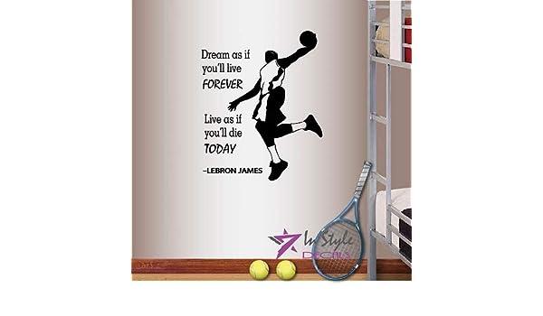 Tennis Sticker Living The Dream Sport Racquet Ball Wall Vinyl Print Decal Art