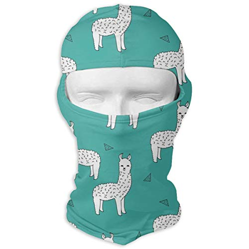 O-X_X-O Ideal Gift Cute Llamas Baby Alpaca Balaclava Full Face Mask Motorcycle Helmet Liner Breathable Multipurpose Outdoor Sports Wind Proof Dust Head Hood