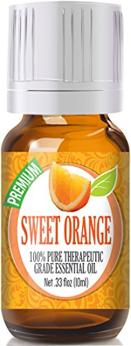 (Sweet Orange - 100% Pure, Best Therapeutic Grade Essential Oil - 10ml)