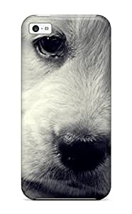 Iphone 5c Cover Case - Eco-friendly Packaging(sad Puppy White Closeup Animal Dog)