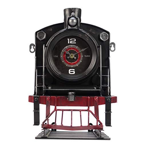 TG,LLC Vintage Style Steam Locomotive Train Track Wall Clock Railroad Man Cave Decor