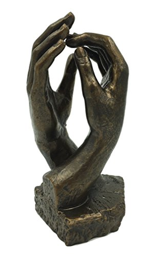 Parastone Rodin Cathedral Clasping Hands Statue Museum Replica 7 in -