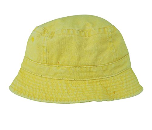 DALIX Bucket Hat in Washed Cotton (Large, Yellow) for $<!--$5.99-->