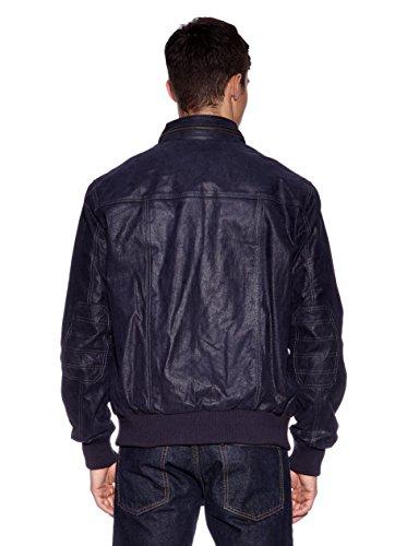 Tom Tailor Lederblouson, Herren Simon Echtleder Pig-Leder Baumwolle Polyester blue S-3XL
