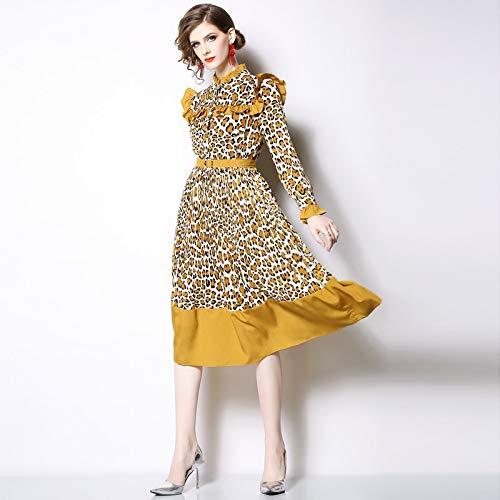 B QUNLIANYI Robe De Soiree Longue Femme Robe De Soirée élégante en Mousseline De Soie pour Femmes à Manches Longues Et à Manches Longues pour Femmes XXL