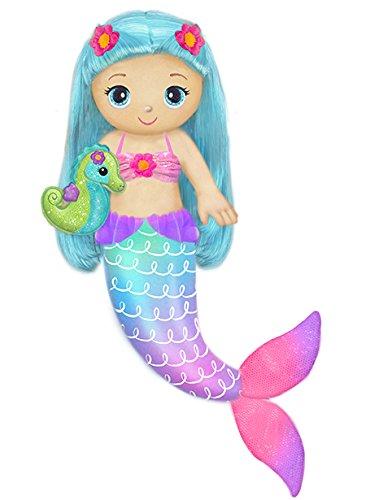 "First & Main 18"" Fantasea Friends Marina Mermaid Plush Toys, Multicolor"