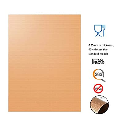 NETCAT Copper Grill Mat Set of 4-100% Non-stick BBQ Grill & Baking Mats - FDA-Approved, PFOA Free, Reusable and Easy to Clean - Works on Gas, Charcoal, Electric Grill and More by NETCAT