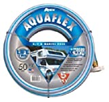 TeknorApex 7503-50 AquaFlex Hose, 0.5 in. x 50 ft, White & Blue (4)