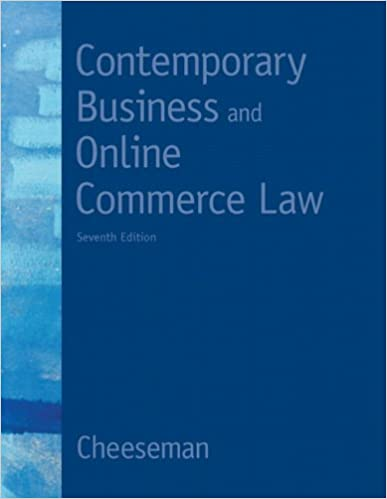 Amazon contemporary business and online commerce law 7th contemporary business and online commerce law 7th edition myblawlab series 7th edition fandeluxe Gallery