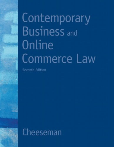 Contemporary Business and Online Commerce Law (7th Edition) (MyBLawLab Series) (Commerce Series)