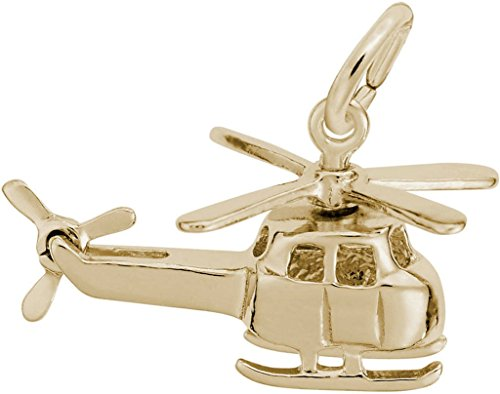 Rembrandt Small Helicopter Charm - Metal - 14K Yellow Gold ()