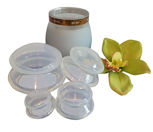 4 Cup Massage Set Complete Body Cupping Therapy Pain Relief Cellulite - Best Gift and Quality in Class - for Mental Physical Spiritual Well Being