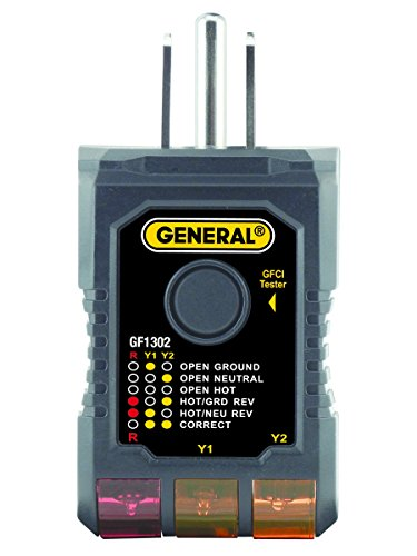 (General Tools GF1302 3-Wire Circuit Analyzer with GFCI Tester)