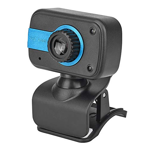 480P Computer Camera HD Webcam USB Face-to-Face Chat Camera with Microphone Adjustable Angle Webcam Without Distortion for Desktop PCs/Laptops (Blue) (Webcam Without Computer)