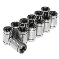 Crispsound 12 PCS/Lot LM8UU Linear Bushing 8mm Durable Linear Ball Bearing 3D Printer Parts LM8 CNC Parts Shaft Ball Bushings from Crispsound