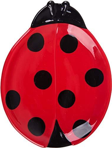 Ladybug Spoon - Ceramic Red Ladybug Shaped Spoon Rest