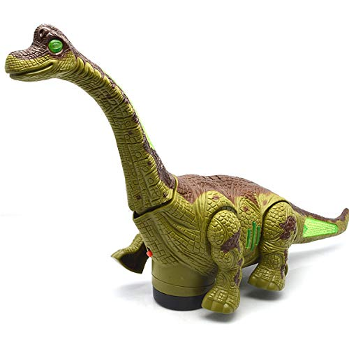SQRTOY Electric Toy Large Size Walking Dinosaur Robot with Light Sound Brachiosaurus Battery Operated Kid Children Boy Gift 1Pcs,Green]()