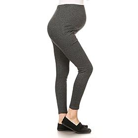 - 41f2kSmnghL - Leggings Depot Women's Ultra Soft Maternity Belt Adjustable Belly Support Comfort Stretch Essential Leggings