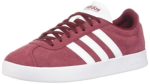 cheap for discount c4048 1033a adidas Men s VL Court 2.0 Sneakers, Collegiate Burgundy Footwear White Core  Black,