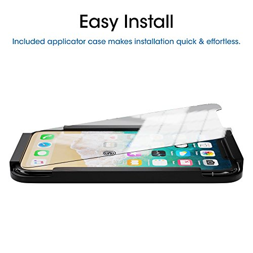 iPhone X Screen Protector Glass (3-Pack), amFilm iPhone X Tempered Glass Screen Protector with Easy Installation Tray for Apple iPhone X/iPhone 10 (3-Pack)