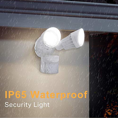 JJC LED Security Lights Motion Sensor Flood Light Outdoor,20W(120W Equiv.)2000LM,IP65 Waterproof,5000K Daylight White DLC & ETL Listed Outdoor Lighting White