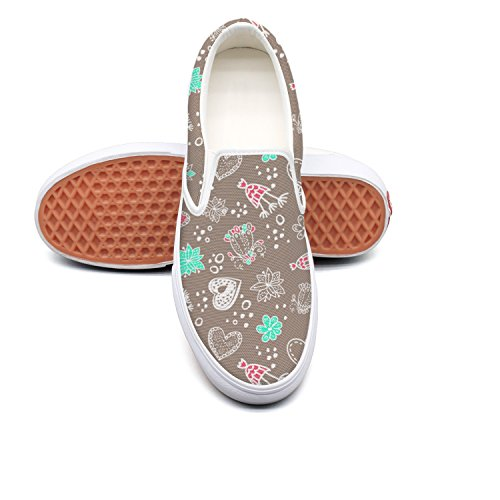 hjkggd fgfds Casual Casual fgfds Doodle Floral Women's Canvas Shoes B07DQPQCKD Shoes 243f2d
