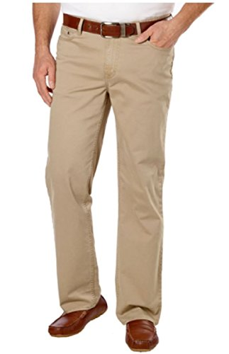 Calvin Klein Men's Straight Fit Sateen Pant, Classic Khaki (34W 30L)