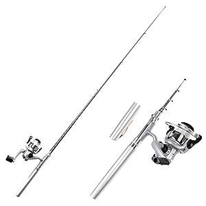 Telescopic Design Carbon Fiber Grip 6 Sections Fishing Rod Pole 1.6M 5Ft Length
