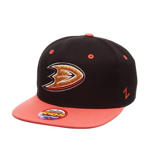 NHL Anaheim Ducks Youth Boys Z11 Snapback Hat, Adjustable, Black