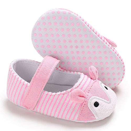 NUWFOR Infant Newborn Baby Girls Prewalker Cartoon Animal Ears Soft Sole Single Shoes(Pink,6~12 Month) by NUWFOR (Image #2)