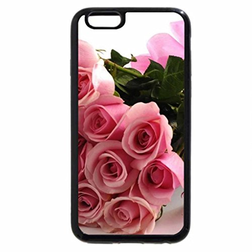 iPhone 6S / iPhone 6 Case (Black) Bouquet of pink roses