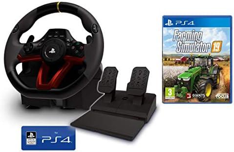 Volante y Pedales PS4 Inalámbrico [Nuevo