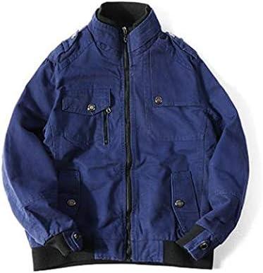 Ptorブルゾン メンズ ジャケット ゆったり デニムジャケット 薄手 コート 立ち襟 カジュアル アウター ストリート系 ジージャン 大きいサイズ 春 カーキ