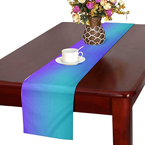 WBSNDB Texture Graphic Color Pattern Table Runner, Kitchen Dining Table Runner 16 X 72 Inch for Dinner Parties, Events, Decor