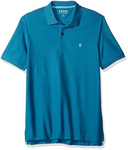 IZOD Men's Advantage Performance Solid Polo (Regular and Slim Fit), Saxony Blue, M