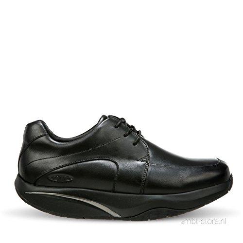 MBT Men's Shuguli Black Leather 40 Medium -  Black Nappa_700945-03N