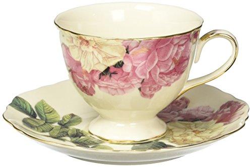 Burton Romantic Rose Porcelain Teacup And Saucer Set