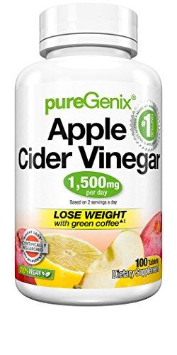 PureGenix Apple Cider Vinegar, 100 Count